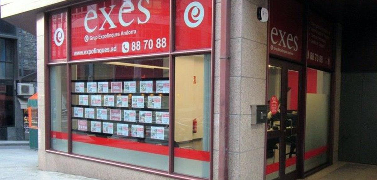 Groupe Expofinques Exes l'Andorre, l'immobilière multi-gestion de l'Andorre pour l'achat et vente de son immeuble.